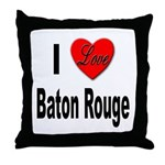 I Love Baton Rouge Throw Pillow