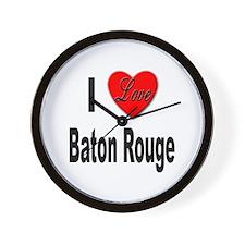 I Love Baton Rouge Wall Clock