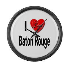I Love Baton Rouge Large Wall Clock