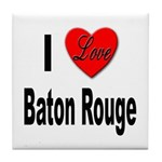 I Love Baton Rouge Tile Coaster