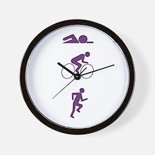 Triathlon Sports Wall Clock