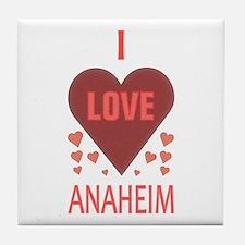 I Love Anaheim Tile Coaster
