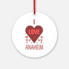 I Love Anaheim Ornament (Round)