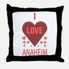 I Love Anaheim Throw Pillow
