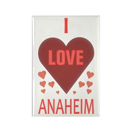 I Love Anaheim Rectangle Magnet
