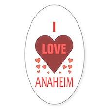 I Love Anaheim Oval Decal