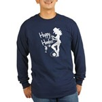 Happy Hooker Long Sleeve Dark T-Shirt