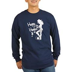 Happy Hooker Long Sleeve Dark T-Shirt