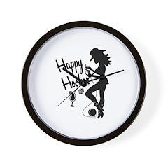 Happy Hooker Wall Clock