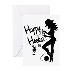 Happy Hooker Greeting Cards (Pk of 10)