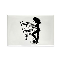 Happy Hooker Rectangle Magnet