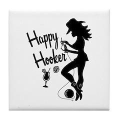 Happy Hooker Tile Coaster