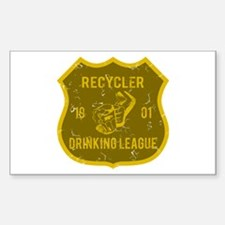 Recycler Drinking League Rectangle Decal
