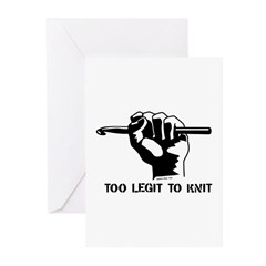Too Legit to Knit Greeting Cards (Pk of 10)