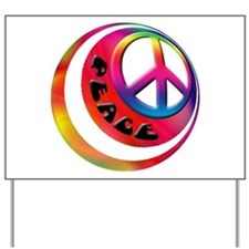 Abstract Peace Sign Ball Yard Sign