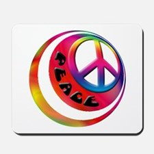 Abstract Peace Sign Ball Mousepad