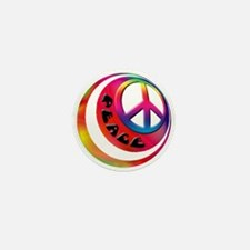 Abstract Peace Sign Ball Mini Button