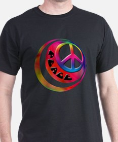 Abstract Peace Sign Ball T-Shirt