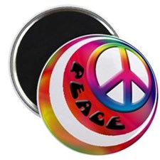"""Abstract Peace Sign Ball 2.25"""" Magnet (10 pack)"""
