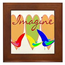 Imagine/Peace Framed Tile
