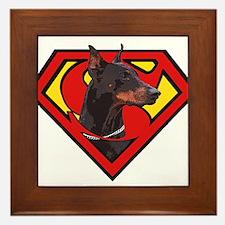 Super DoberMan Framed Tile
