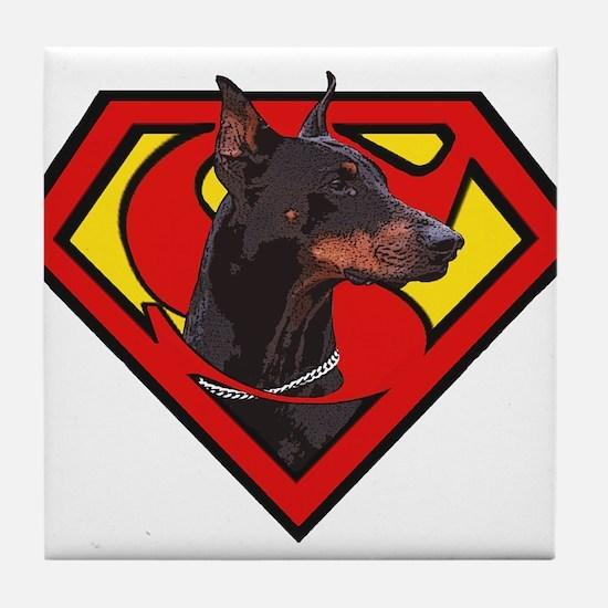 Super DoberMan Tile Coaster