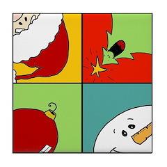 christmas fun Tile Coaster