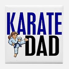 Karate Dad (OF GIRL) 3 Tile Coaster