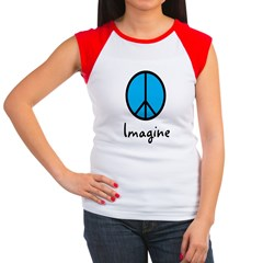 Imagine/Peace Women's Cap Sleeve T-Shirt
