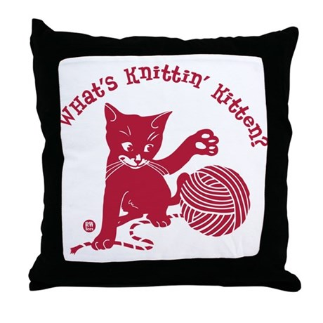 Happy Hooker Throw Pillow