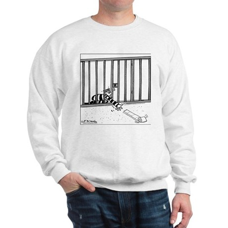 Toilet Paper Rolling Away in Prison Sweatshirt