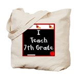 I Teach 7th Grade Tote Bag