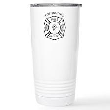 Firefighters Wife Travel Coffee Mug