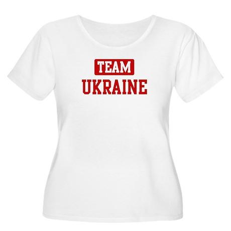 Team Ukraine Women's Plus Size Scoop Neck T-Shirt