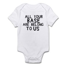 all your base are belong to u Infant Bodysuit