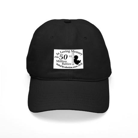 Pro Life - In Loving Memory Black Cap