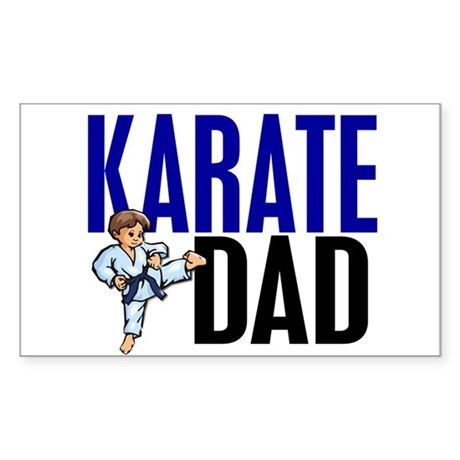 Karate Dad (OF BOY) 3 Rectangle Sticker