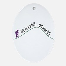 Get Over It (Running) Oval Ornament