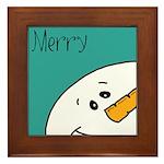 xmas merry Framed Tile