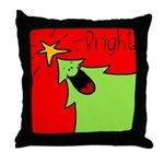 XMAS bright Throw Pillow