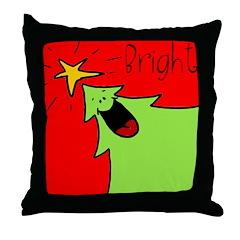 XMAS bright Throw Pillow