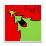 XMAS bright Tile Coaster
