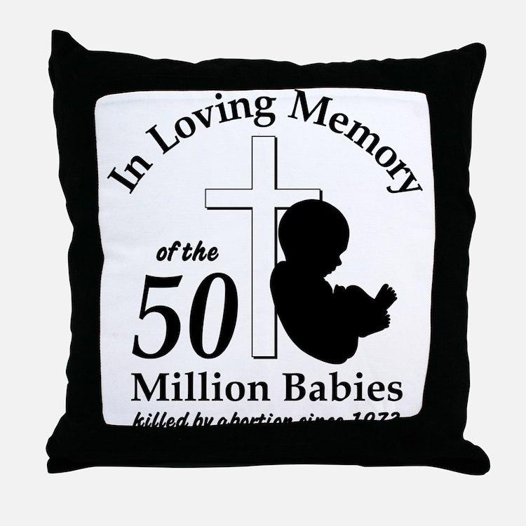 In Loving Memory Throw Pillow