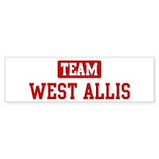 Team West Allis Bumper Bumper Sticker