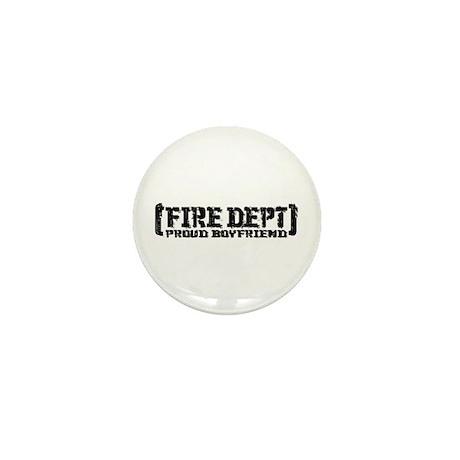 Proud Boyfriend Tattered Fire Dept Mini Button
