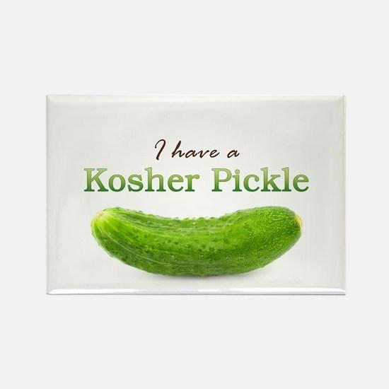 I have a Kosher Pickle Rectangle Magnet