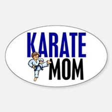 Karate Mom (OF BOY) 3 Oval Decal