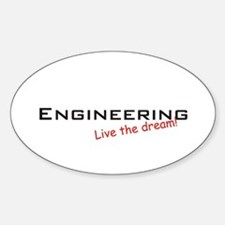 Engineering / Dream! Oval Decal