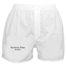 Burkina Faso rocks Boxer Shorts