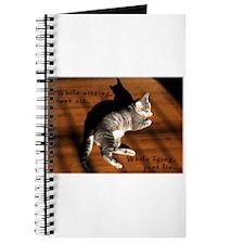 Sit or Lie Tabby Kitten Journal